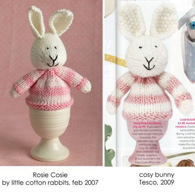 Is this evidence of Tesco using Rosie Cosies IP? Original Image Rosie Cosie and Tesco