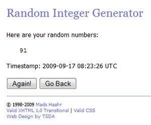 Winning number