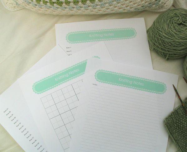 Knitting Pattern Paper : Free knitting patterns: knitting note paper
