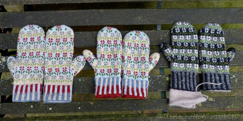 Three mittens