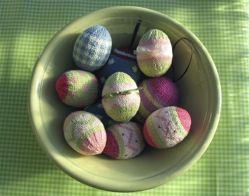 Free Knitting Patterns Knitted Easter Egg Decoration