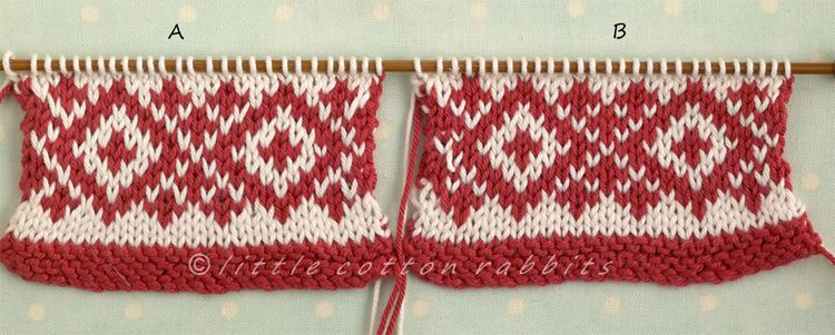 Little Cotton Rabbits: Knitting tips: Fair Isle/stranded colourwork