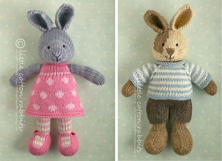 Knitted Bunnies Free Pattern : Bunny knitting patterns Little Cotton Rabbits Bloglovin
