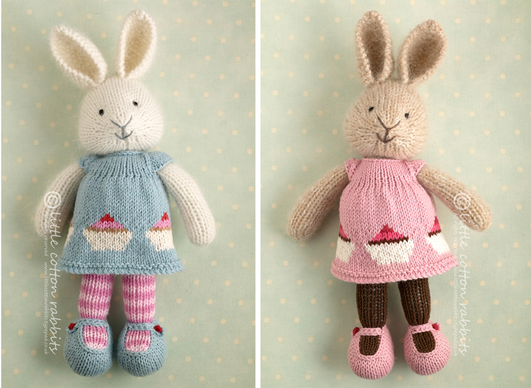 Knitted Bunnies Free Pattern : Little Cotton Rabbits: crafts & knitting