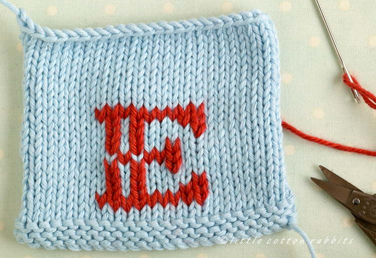 Little Cotton Rabbits Duplicate Stitch