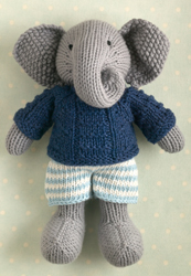 Elephant in a textured sweater