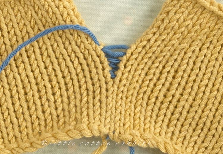Loose stocking stitch