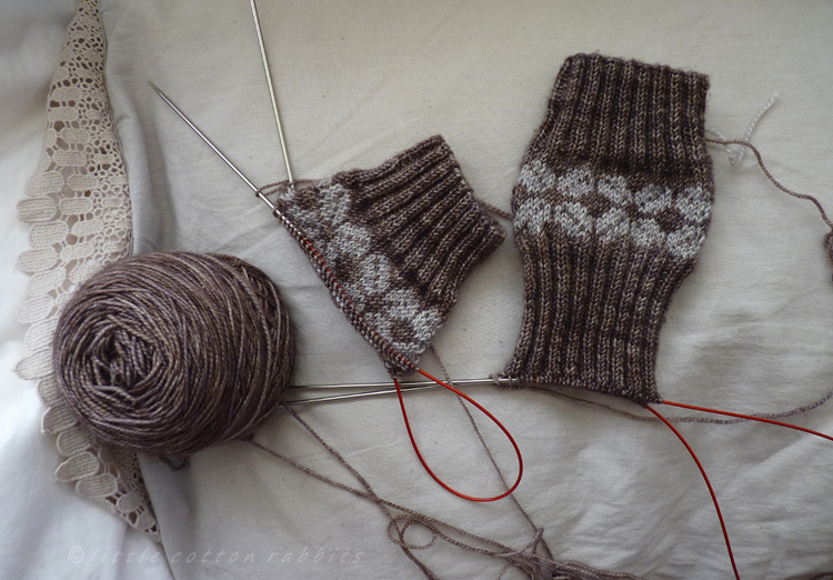 Early morning knitting