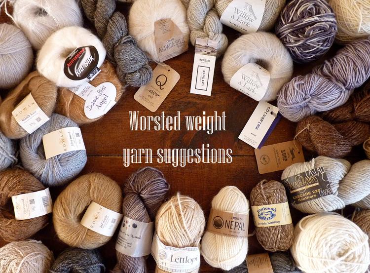 Worsted yarn