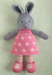 Rabbit in a dotty dress