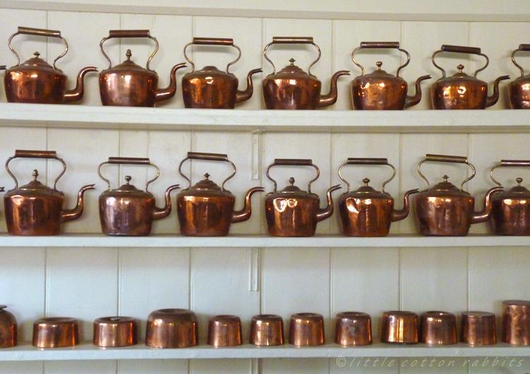 Bright copper kettles