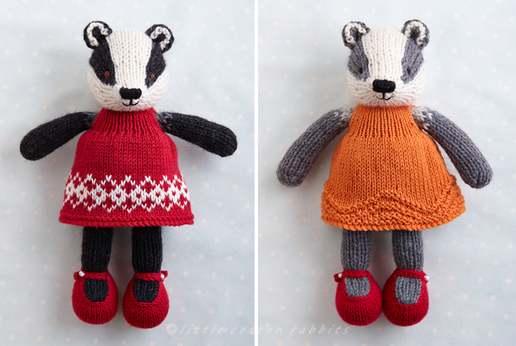 Badgers with dresses